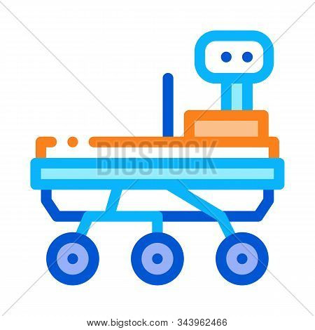 Exploration Mars Rover Icon Vector. Outline Exploration Mars Rover Sign. Isolated Contour Symbol Illustration stock photo
