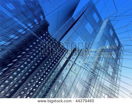Architecture moderne abstraite
