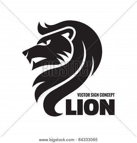 Animal lion - vector logo concept illustration. Lion head sign illustration. Vector logo template.
