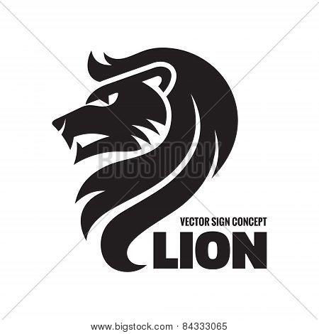 Animal lion - vector logo concept illustration. Lion head sign illustration. Vector logo template.