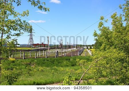 Protections energized at the Electrochemical Plant, Zelenogorsk stock photo