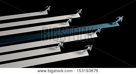 Competitive Advantage in a Business Competition Environment 3D Illustration Render stock photo