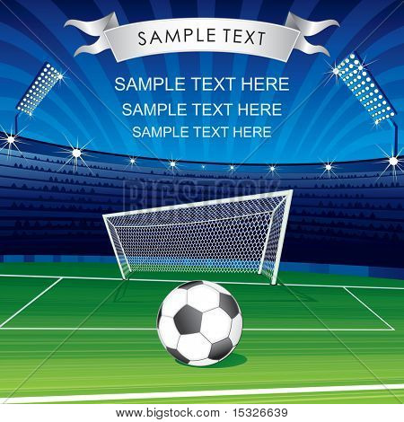 Football Champions League theme- vector poster for your text or design-MORE SIMILAR SOCCER BACKGROUN