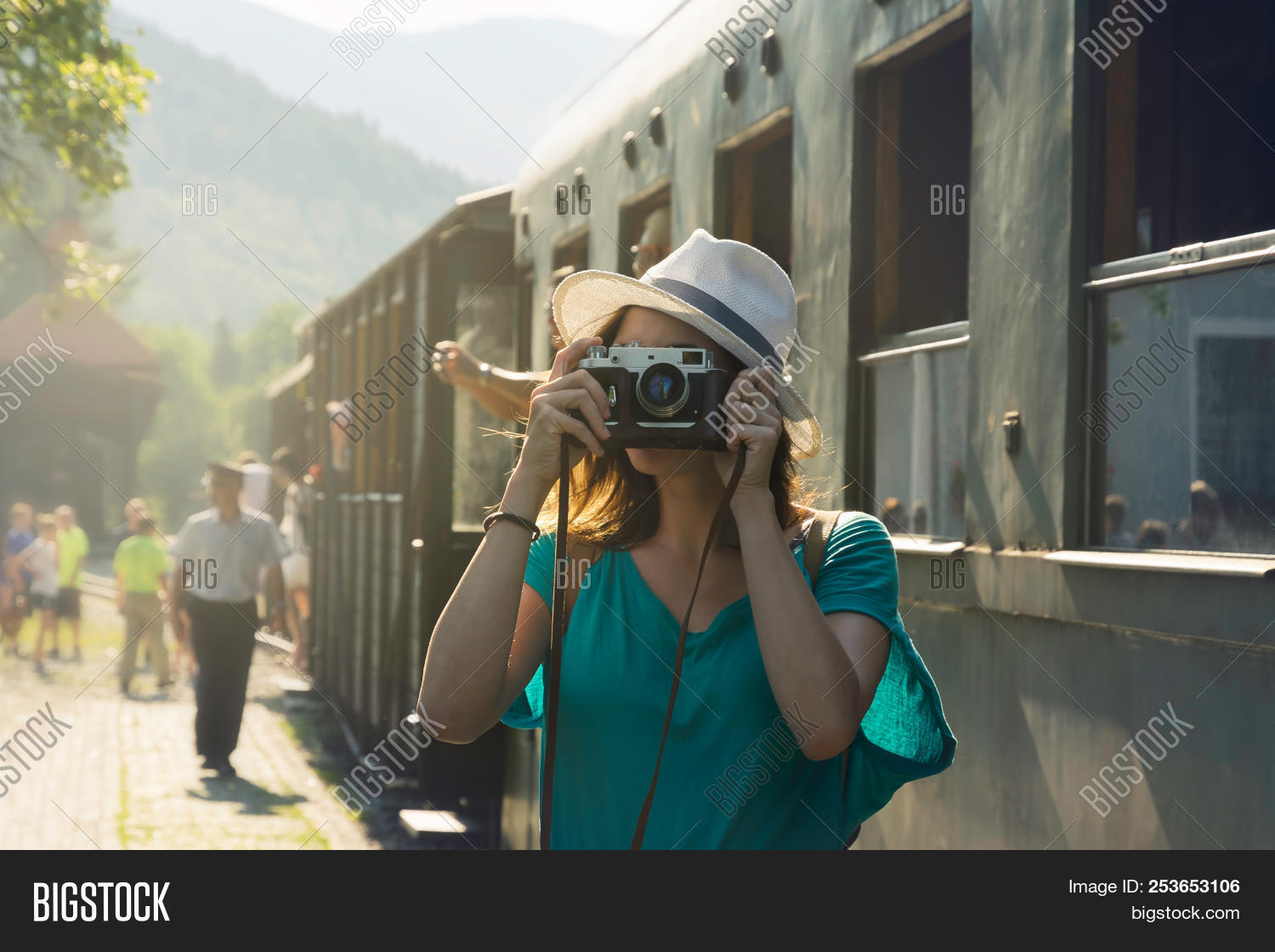 adult,alone,arrivals,arrived,beautiful,camera,casual,caucasian,countryside,day,destination,enjoying,fashioned,girl,happiness,happy,hat,hipster,holiday,journey,luxuriant,movement,old,people,photo,photographer,photography,pretty,railroad,retro,shooting,station,sunlight,sunny,tourism,tourist,train,travel,traveler,traveling,travelling,trip,vacation,vintage,wagon,window,woman,young