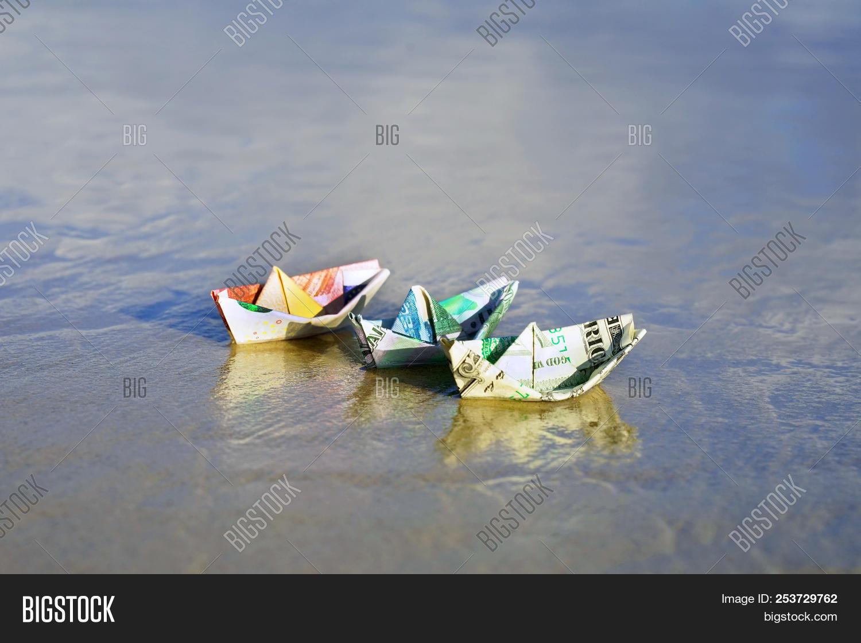 Folded Money Boat stock photo. Image of holidays, concept - 5011684 | 1120x1500