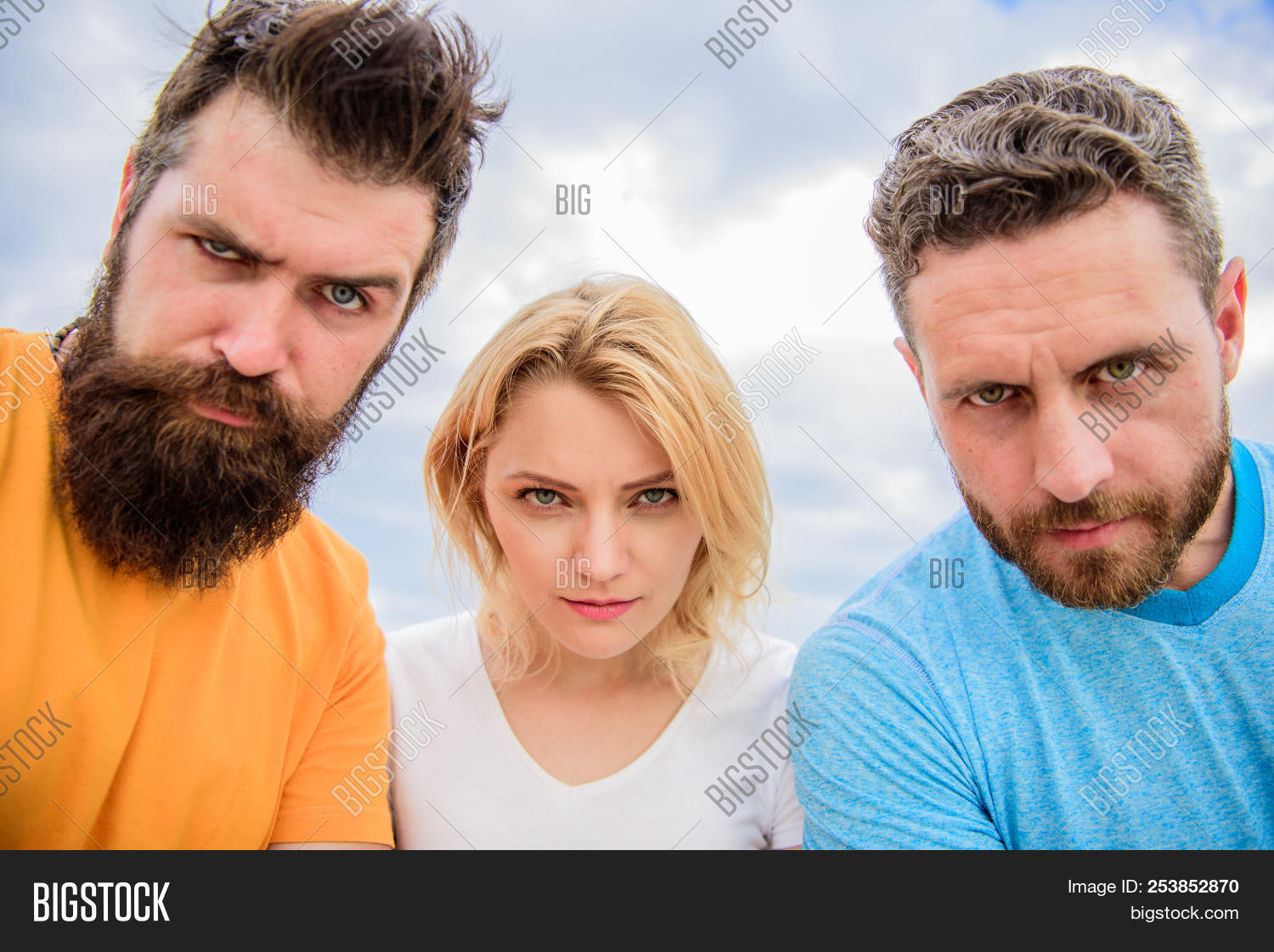 Seems remarkable Looking threesome woman were visited