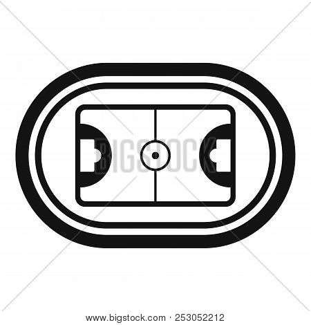 Top hockey field icon. Simple illustration of top hockey field icon for web design isolated on white background stock photo