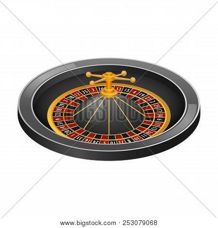 Grey roulette casino mockup. Realistic illustration of grey roulette casino mockup for web design isolated on white background stock photo