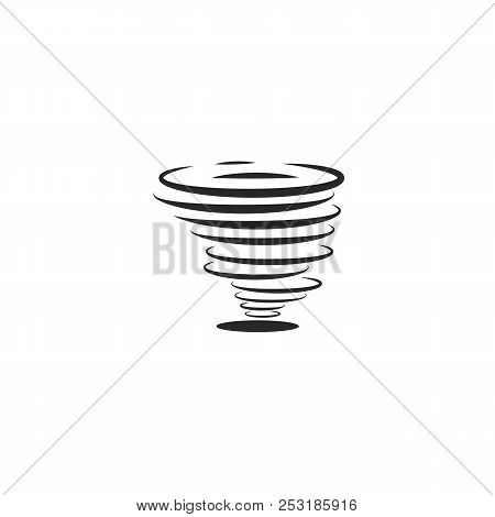 Hurricane icon or tornadoes symbol in the linear minimal flat style. Twisting air whirlwind simple illustration stock photo