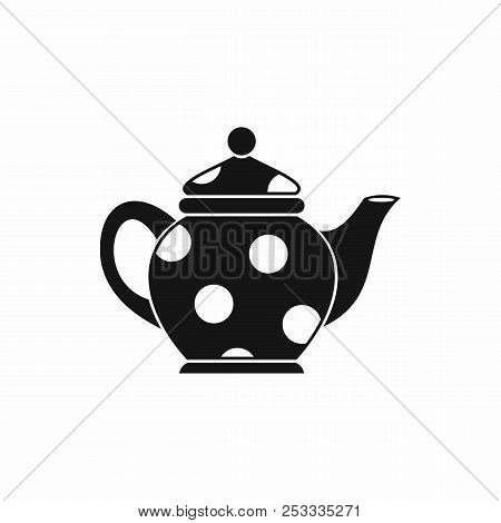 Kettle icon in simple style isolated on white background. Dishes symbol stock photo