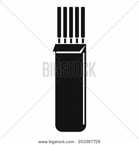 Electrodes icon. Simple illustration of electrodes icon for web design isolated on white background stock photo