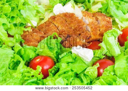 Vegetables With Chicken Nutrient Rich Food Cocept