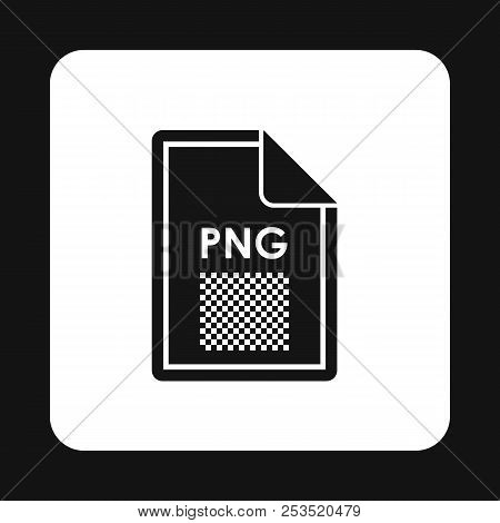 File PNG icon in simple style isolated on white background. Document type symbol illustration stock photo