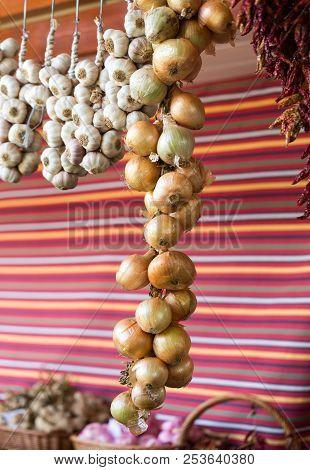 Vegetables in Mercado Dos Lavradores. Funchal, Madeira, Portugal stock photo