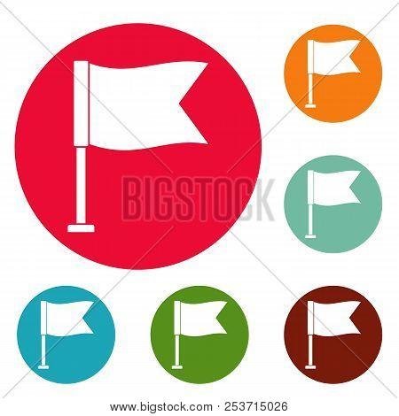 Flag icons circle set isolated on white background stock photo