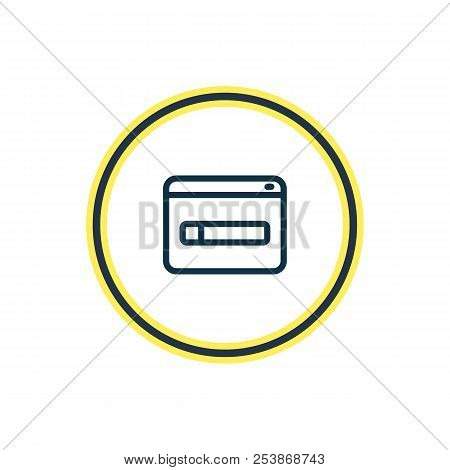 Vector illustration of domain registration icon line. Beautiful marketing element also can be used as www icon element. stock photo