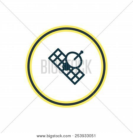 Vector illustration of sputnik icon line. Beautiful astrology element also can be used as satellite icon element. stock photo