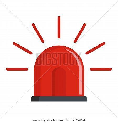 Police siren icon. Flat illustration of police siren icon for web stock photo