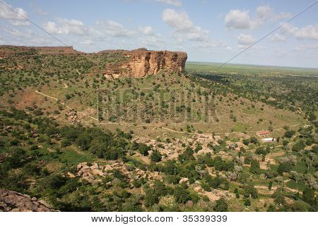 A view of the Dogon country, Mali, West Africa stock photo