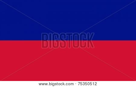 National flag of Haiti - civil version in official colors stock photo