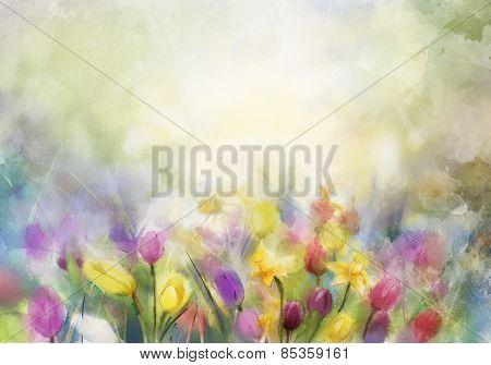 Watercolor Flowers Painting
