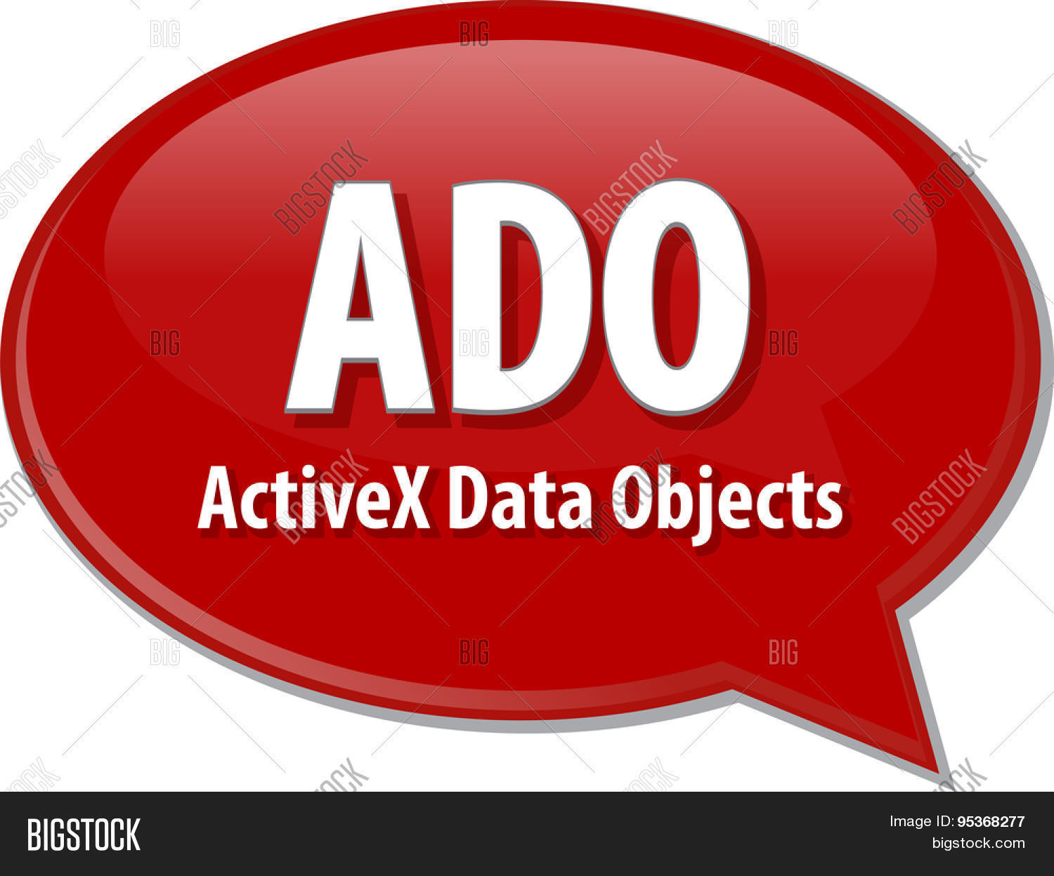 Speech Bubble Illustration Of Information Technology Acronym Abbreviation Term Definition Ado Active 95368277 Image Stock Photo