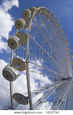a giant whell attraction in a park in Paris stock photo