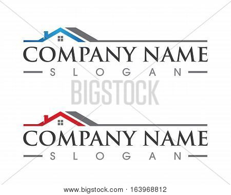 W Letter Property and Construction Logo design for business corporate sign . Vector  stock photo