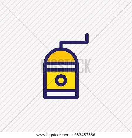 illustration of coffee mill icon colored line. Beautiful coffee element also can be used as caffeine grinder icon element. stock photo
