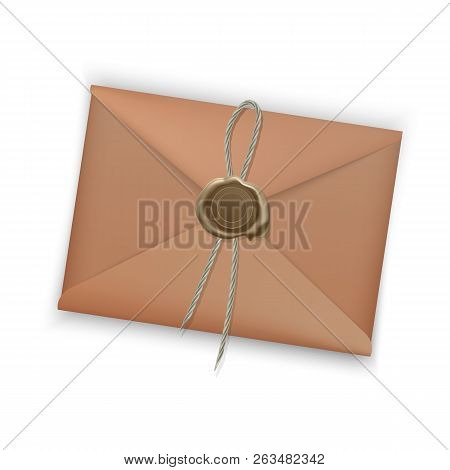 Realistic envelope closed envelope isolated on white background. Vector EPS 10 illustration mockup stock photo