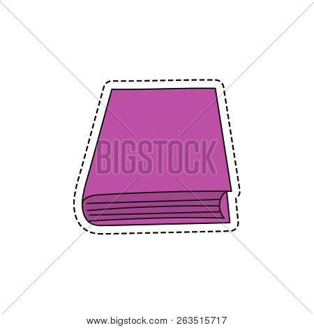 Vector sketch hand drawing book icon. Illustration on white background stock photo