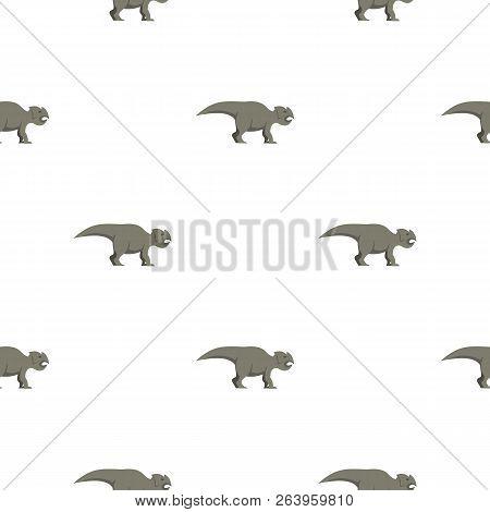 Grey ceratopsians dinosaur pattern seamless for any design illustration stock photo