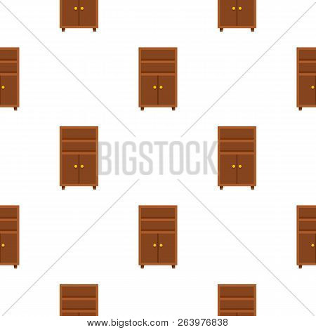Wooden cabinet pattern seamless flat style for web illustration stock photo