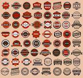 Racing identifications - vintage style, huge set