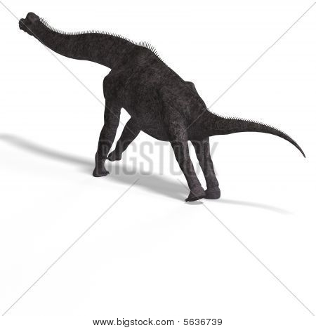 giant dinosaur brachiosaurus With Clipping Path over white stock photo