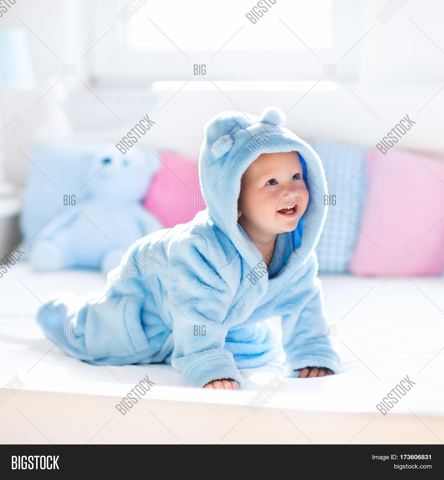 Unisex Bath Shower Bathrobe With Towel Photography Props For 0 6 Months Newborn Baby Swimming Pool