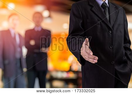 Business Man. Business handshake and business people. Business handshake. Two business man background. Business working and business people concept. Business man over sunny office and business people background, business content.