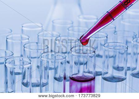 laboratory glassware in laboratory in chemistry lab