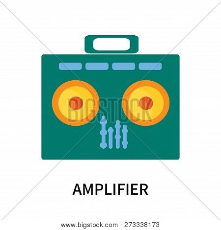 Amplifier icon isolated on white background. Amplifier icon simple sign. Amplifier icon trendy and modern symbol for graphic and web design. Amplifier icon flat vector illustration for logo, web, app, UI. stock photo