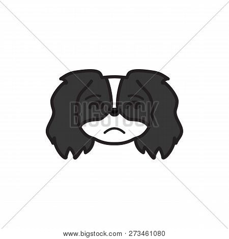 pekingese, emoji, insecure multicolored icon. Signs and symbols icon can be used for web, logo, mobile app, UI, UX stock photo