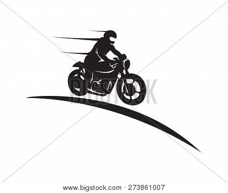 Rider vector and classic motor Bikers Rider vector and classic motor Bikers stock photo