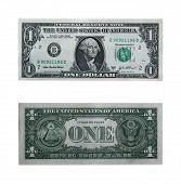 One Dollar Bill With Path