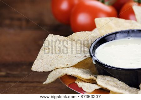 Bowl Of Queso Blanco White Cheese Sauce