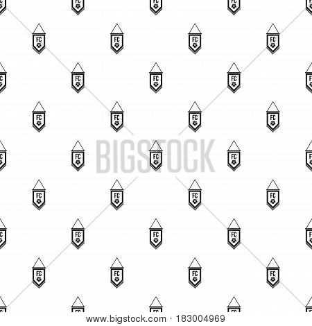 Pennant with soccer ball pattern seamless in simple style vector illustration stock photo