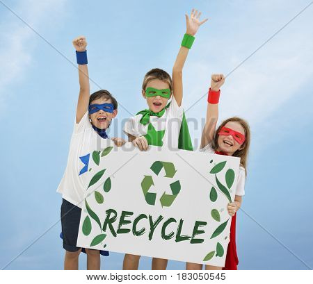Nature Recycle Save The Planet Icon stock photo