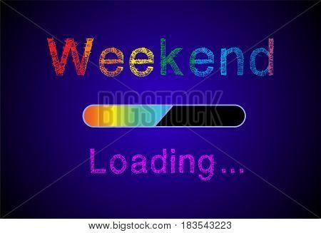 weekend loading, weekend loading, weekend loading, weekend loading stock photo