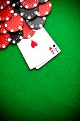 Black and red poker contributes the foundation
