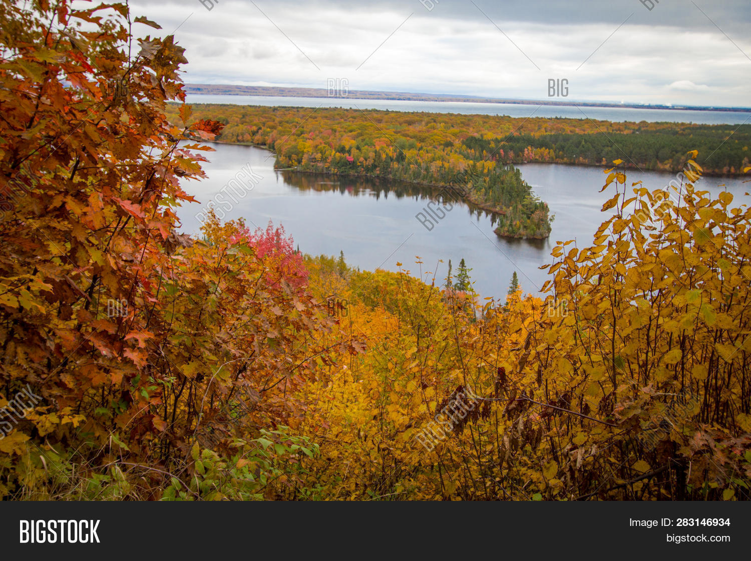 above,afternoon,angle,autumn,backgrounds,beautiful,blue,brimley,chippewa,county,destinations,fall,foliage,forest,from,great,high,horizontal,inland,lake,landscape,michigan,midwest,nature,north,northern,october,outdoors,overlook,panorama,panoramic,peninsula,scenery,scenic,serene,shot,sightseeing,state,superior,tourism,travel,trees,upper,usa,vast,view,water,wilderness,woods