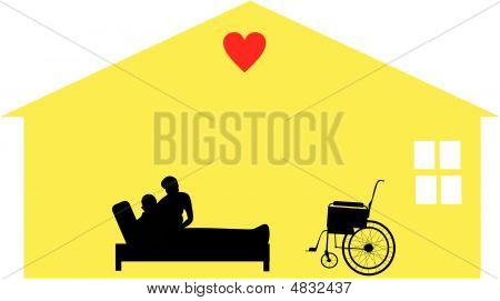 Home care given by loving care workers for the housebound and hospice situations.. Caring for people in their homes with respect and dignity. stock photo