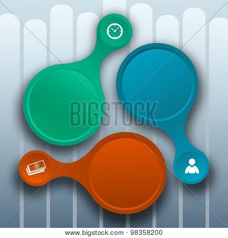 Design business presentation template. Vector illustration for technology infographics number banners charts and graphs or powerpoint background graphs and tables. EPS 10 stock photo